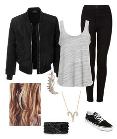 """""""Bad girl"""" by stina999 on Polyvore featuring Vans, LE3NO, Topshop, Project Social T, Latelita and Wild Hearts"""