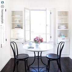 """""""#Repost @homepolish.  Hooray for lovely spaces that brighten up dreary days!  ・・・ Who needs brunch plans when you can just be my breakfast date right here instead? #stayingin #gonnaeat25croissants // Design from #HomepolishLA + photo by @tessaneustadt."""" Photo taken by @simplyborganized on Instagram, pinned via the InstaPin iOS App! http://www.instapinapp.com (06/27/2015)"""