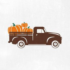 Giant Pumpkin, Antique Trucks, Old Trucks, Project Yourself, Cutting Files, Cricut, Clip Art, Projects, Silhouette