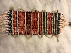 Bracciale tessuto in Cotone e corda #handweaving #designtexiles #artespalermo #loom # giuliettasalmeri