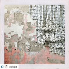 El Anatsui printing plate work with the texture and tone of one of The School's raw walls
