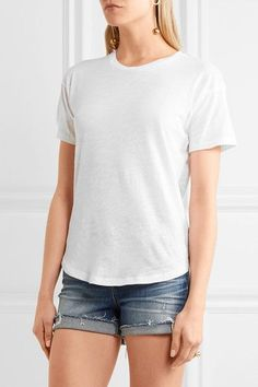 Madewell - Whisper Slub Cotton-jersey T-shirt - White - x large