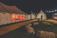 Wedding marque by night