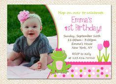 Frog Birthday Invitations by LollipopPrints on Etsy, $12.00