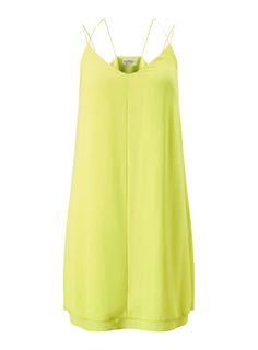 Slip dresses: key fashion trends of the season – in pictures - Chartreuse £28 - www.missselfridge.com