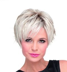 Flip Monofilament Hair Power Ladies Wig By Ellen Wille in Pearl Blonde Rooted | Monofilament Wig | Valentine Wigs