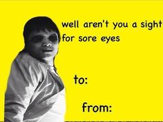 Supernatural Kevin jokes---- I find this upsetting. Funny Valentines Cards For Friends, Friend Valentine Card, Valentine Day Cards, Supernatural Tv Show, Sore Eyes, My Heart Is Breaking, Superwholock, Winchester, Memes