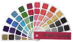 Bright Spring Color Swatch Book from Indigo Tones: Sometimes referred to as Clear, Striking, Vivid or Vital Spring