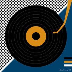 Record Player graphic design