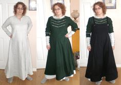 Viking garb by ~eqos on deviantART. I've wondered whether the trim on the overdress might be inspired by Birka 735