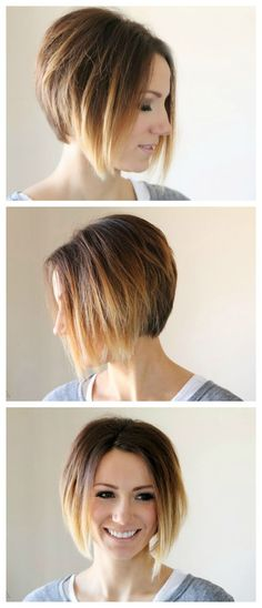 The Great Hair Post - short hair, pixie cuts, ombre short hair, diy