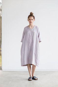 Tunique kimono lin lavé dans les cendres de par notPERFECTLINEN