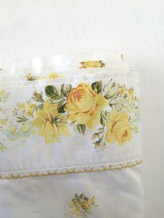 Vintage Full Size Double Flat Sheet Springmaid Sheet Yellow