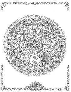 ☮ American Hippie ☮ Art Adult Coloring Page . Doodle Coloring, Mandala Coloring Pages, Coloring Book Pages, Mandala Art, Mandala Doodle, Zantangle Art, Henna Style, Mermaid Coloring, Hippie Art