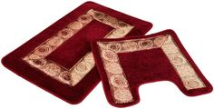 Cherry Red Bathroom Rugs