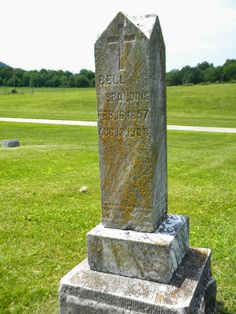 The Old Trunk in the Attic: Tombstone Tuesday - J H and Bell Spalding #genealogy