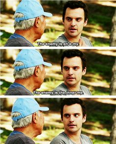 Nick Miller - This whole scene was the best! So funny!
