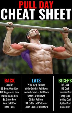 Hungry for some serious gym time and crazy gains? go heavy, go hard and improve your results with this intense, high volume rest-pause workout. Each workout starts out with a compound lift using a Pull Day Workout, Gym Workout Tips, Biceps Workout, Workout Schedule, Weekly Workouts, Workout Calendar, Workout Men, Workout Motivation, Exercise Fitness