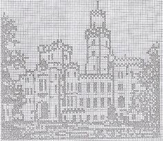 Filet Crochet Charts, Crochet Cross, Crochet Home, Crochet Stitches, Funny Cross Stitch Patterns, Cross Stitch Charts, Doily Patterns, Crochet Patterns, Cross Stitching