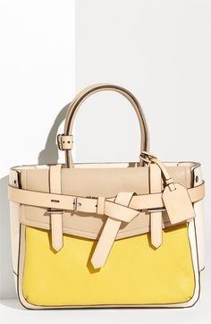 Reed Krakoff - Boxer Tri-color leather satchel (great use of color blocking trend for Spring 2012)