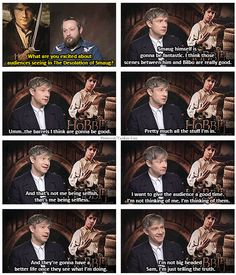 The Hobbit   ...  The Desolation of Smaug  Martin Freeman giving the best interview I've ever seen.