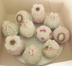 Beautiful antique sphere wedding cakes. http://www.cottonandcrumbs.co.uk/celebration-cakes/