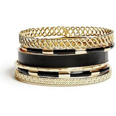 GUESS Selina Gold-Tone Bracelet Set (€25) ❤ liked on Polyvore featuring jewelry, bracelets, accessories, pulseira, bangles, gold, guess jewellery, hinged bangle, gold colored jewelry and gold tone jewelry