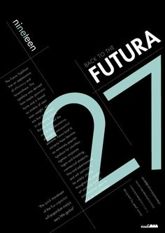 Futura Typeface Specimen Poster on Behance