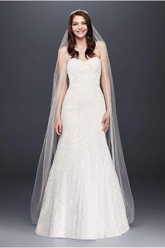 Simple Strapless Sweetheart Mermaid Tulle Wedding Dress Style AI Strapless mermaid wedding dresses Mermaid wedding dresses and Tulle skirts