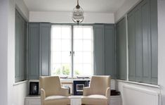 modern window solid shutters interior - Google Search