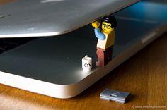 Lego Computer Programmer at Work