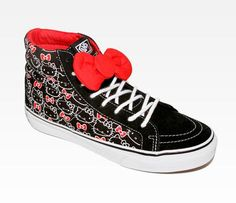 b1917d62fe VANS x Hello Kitty Sk8-Hi Slim  Red Bow Gotta have these! Swagger