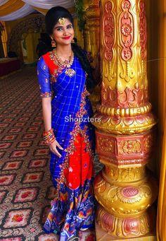 Lehenga Saree Design, Half Saree Lehenga, Lehnga Dress, Lehenga Choli Online, Lehenga Designs, Kids Lehenga, Bridal Lehenga, Saree Blouse Patterns, Saree Blouse Designs