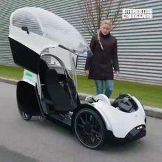 Velo Design, Bicycle Design, Petit Camping Car, Tent Camping, E Quad, Velo Cargo, Cool Gadgets For Men, Futuristic Cars, Pedal Cars