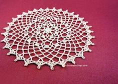 Easy Round Lace Doily by blueraindrops - Crochet Pattern Bonanza Free Crochet Doily Patterns, Crochet Motif, Easy Crochet, Knit Crochet, Crochet Coaster, Crochet Things, Crochet Round, Half Double Crochet, Crochet Shawl