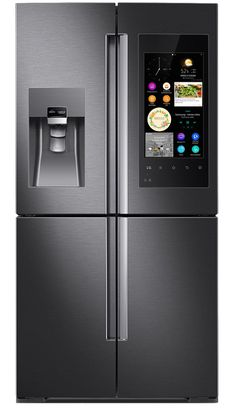 Samsung Family Hub Refrigerator & AddWash Appliances - Refrigerator - Trending Refrigerator for sales. - Family Hub Refrigerator by Samsung Touch Screen Smart Home Ideas, Best Smart Home, Home Automation System, Smart Home Automation, Smart Home Appliances, Kitchen Appliances, Copper Appliances, Wolf Appliances, Kitchens