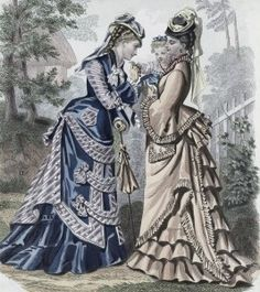Walking Dresses? 1875 #amwriting #victorian #AoDH