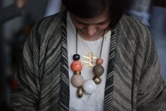 Combination of two completely different necklaces - love it.