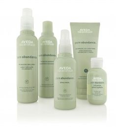 Aveda Pure Abundance hair care line gives incredible, instant volume - first, shampoo and condition with Pure Abundance. Second, use the Pure Abundance style prep on damp hair. Flat wrap to 70%-80% dry and spritz your roots with volumizing tonic. Then, dry completely. Hard set and finish with Pure Abundance Hair Potion around the crown and apex for maximum volume.
