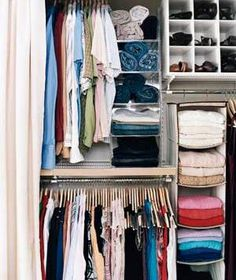 31 Ways To Make Over Your Closets Capitalize On Every Inch Even Tight  Closets Can Be Kept In Check With Helpers Like Bins And Hanging Shelves.