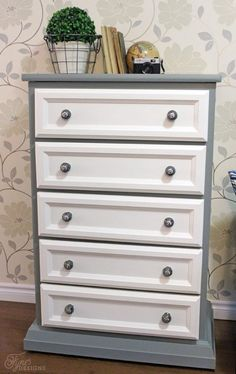 √ Tall Dresser Makeover Ideas before after. 13 Tall Dresser Makeover Ideas before after. Tall Dresser Makeover Tutorial with Trim and Paint Cheap Furniture Makeover, Diy Furniture Renovation, Diy Dresser Makeover, Refurbished Furniture, Repurposed Furniture, Furniture Projects, Furniture Making, Home Furniture, Dresser Makeovers