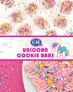 Unicorn Cookie Bars | C&H® Sugar's Confectionista Project | These easy to make and fun to eat cookie bar treats are packed with fanciful sprinkles and topped with dreamy, creamy frosting. Perfect for Bake Sales, birthdays, or just because.