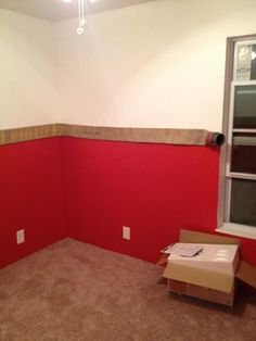 """FIRE HOSE:  A Simple idea for how to """"repurpose"""" fire hose as decorative trim in a boys room or man cave!"""