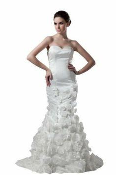 herafa Mermaid Long Dress Handmade Flowers w35946