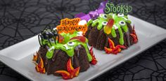 Halloween Creepy Cauldron Bundt Cakes
