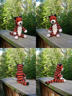 Needle Felted Hobbes: made by me.