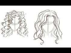 How To Draw Curly Hair - YouTube