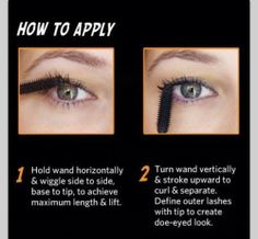 """Mascara Tricks using Benefit's """"They're Real!"""" - I actually find that if you do the wiggle trick with this mascara, it comes out to be WAY too much. Beauty Secrets, Beauty Hacks, Beauty Tips, Makeup Tips, Hair Makeup, Makeup Products, Makeup Basics, Beauty Products, Makeup Essentials"""