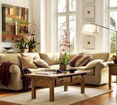 sonbahar renkleri ev dekorasyonu salon oturma odasi bej kahve yesil turuncu