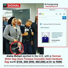 Welcome to Olusola Olaniyi's Planet blog : MRS AISHA BUHARI SPOTTED WITH AN HANDBAG WORTH $10...
